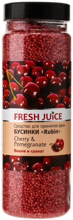 Fürdőgyöngyök - Fresh Juice Bath Bijou Rubin Cherry and Pomergranate