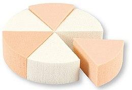 Parfüm, Parfüméria, kozmetikum Sminkszivacs, 35821, fehér és bézs, 6 db - Top Choice Foundation Sponges