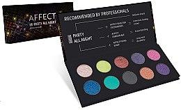 Parfüm, Parfüméria, kozmetikum Préselt szemhéjfesték paletta - Affect Cosmetics Party All Night Eyeshadow Palette