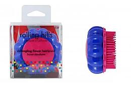 """Parfüm, Parfüméria, kozmetikum Kompakt hajfésű """"Kamilla"""" albastru/roz - Rolling Hills Brosse Desenredar Flower"""
