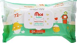 Parfüm, Parfüméria, kozmetikum Nedves törlőkendő gyermekeknek, 72 db - Moi Bebe Happy & Clean Ultra Soft Baby Wet Wipes