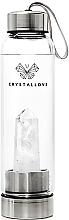 Parfüm, Parfüméria, kozmetikum Kulacs fehér kvarc kristállyal, 500 ml - Crystallove