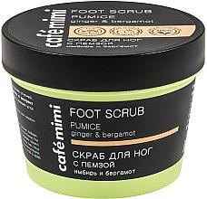 "Parfüm, Parfüméria, kozmetikum Peeling lábra ""Gyömbér és bergamot"" - Cafe Mimi Foot Scrub Pumice"
