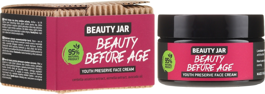 Anti age arckrém - Beauty Jar Beauty Before Age Youth Preserve Face Cream