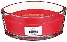 Parfüm, Parfüméria, kozmetikum Illatgyertya pohárban - Woodwick Ellipse Radish & Rhubarb Candle