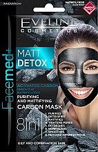 Parfüm, Parfüméria, kozmetikum Mattító maszk szénnel - Eveline Cosmetics Facemed+ Matt Detox Mask