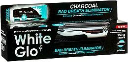"Parfüm, Parfüméria, kozmetikum Szett ""Friss lehellet"" fekete-fehér - White Glo Charcoal Bad Breath Eliminator (t/paste/100ml + t/brush/1)"