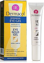 Parfüm, Parfüméria, kozmetikum Szemkörnyékápoló gél duzzanatokra és sötét karikákra - Dermacol Eye Gold Gel