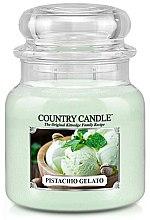 Parfüm, Parfüméria, kozmetikum Illatgyertya üvegben - Country Candle Pistachio Gelato