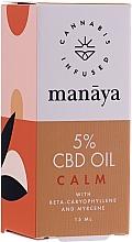 Parfüm, Parfüméria, kozmetikum Kender olaj - Manaya 5 % CBD Oil Calm