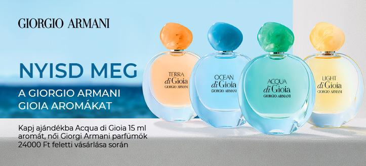 Kapj ajándékba Acqua di Gioia 15 ml aromát, női Giorgi Armani parfümök 24 000 Ft feletti vásárlása során