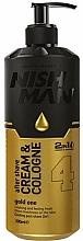Parfüm, Parfüméria, kozmetikum Krém-kölni borotválkozás után - Nishman After Shave Cream Cologne 2in1 Gold One №04