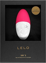Parfüm, Parfüméria, kozmetikum Zenélő vibrátor, bordó - Lelo Siri 2 Cerise