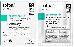 Parfüm, Parfüméria, kozmetikum Hámlasztó nedves kendő AHA savval - Tolpa Estetic Exfoliating Wipe