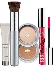 Parfüm, Parfüméria, kozmetikum Szett - Pur Minerals Best Sellers Starter Kit Light (primer/10ml+found/4.3g+bronzer/3.4g+mascara/5g+brush)