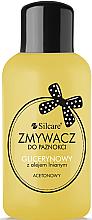 Parfüm, Parfüméria, kozmetikum Körömlakklemosó glicerinnel és lenolajjal - Silcare