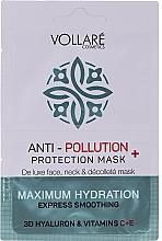 """Parfüm, Parfüméria, kozmetikum Arcmaszk """"Hidratáló hialuronsav + C- és E-vitamin"""" - Vollare Anti-Pollution Protection Mask"""