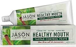 "Parfüm, Parfüméria, kozmetikum Fogkrém ""Fogkő védelem"" - Jason Natural Cosmetics Healthy Mouth Tartar Control Toothpaste"
