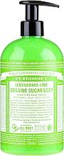"""Parfüm, Parfüméria, kozmetikum Folyékony szappan """"Citromfű és lime"""" - Dr. Bronner's Organic Sugar Soap Lemongrass Lime"""