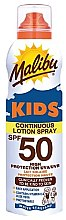Parfüm, Parfüméria, kozmetikum Gyermek napvédő vízálló lotion - Malibu Sun Kids Continuous Lotion Spray SPF50