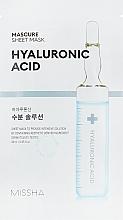 Parfüm, Parfüméria, kozmetikum Hidratáló maszk hialuronsavval - Missha Mascure Hydra Solution Sheet Mask