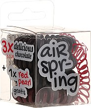 Parfüm, Parfüméria, kozmetikum Hajgumi 4 db, sötét barna és piros - Hair Springs
