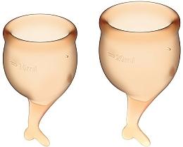 Parfüm, Parfüméria, kozmetikum Menstruációs kehely, narancssárga - Satisfyer Feel Secure Menstrual Cups