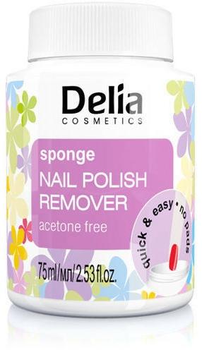Szivacsos körömlakklemosó tégely - Delia Sponge Nail Polish Remover Acetone Free
