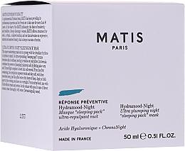 Parfüm, Parfüméria, kozmetikum Lifting-maszk, éjszakai - Matis Reponse Preventive Hydramood Night Mask