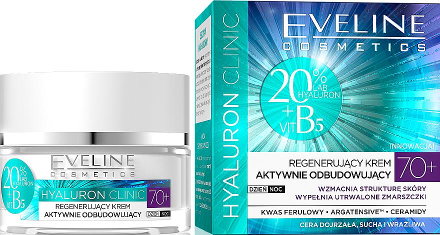 Arckrém, regeneráló - Eveline Cosmetics Hyaluron Clinic 70+