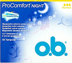 Parfüm, Parfüméria, kozmetikum Tampon, 48 db - O.b. ProComfort Night Normal