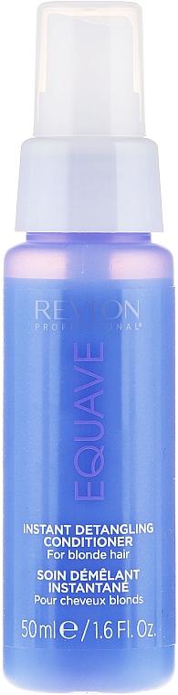 Keratinos kondicionáló szőkített hajra - Revlon Professional Equave 2 Phase Blonde Detangling Conditioner — fotó N7