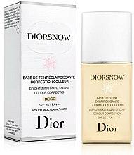 Parfüm, Parfüméria, kozmetikum Bőrvilágosító sminkalap - Dior Brightening Makeup Base Colour Correction SPF35 PA+++