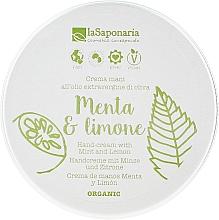 """Parfüm, Parfüméria, kozmetikum Kézkrém """"Menta és citrom"""" - La Saponaria Hand Cream Mint and Lemon"""