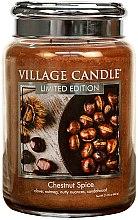 Parfüm, Parfüméria, kozmetikum Aroma gyertya - Village Candle Chestnut Spice Glass Jar