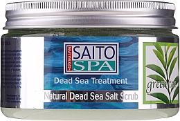 "Parfüm, Parfüméria, kozmetikum Sós testradír ""Zöld tea"" - Saito Spa Aalt Body Scrub Green tea"