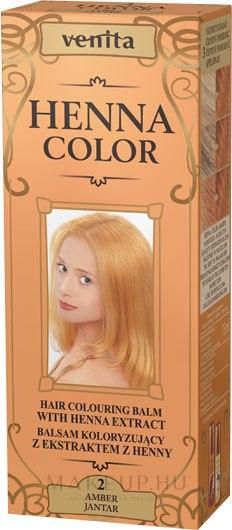 Hajbalzsam henna kivonattal - Venita Henna Color — fotó 2 - Amber