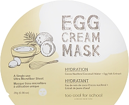Parfüm, Parfüméria, kozmetikum Hidratáló szövetmaszk tojás kivonattal - Too Cool For School Egg Cream Mask Hydration