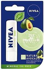 """Parfüm, Parfüméria, kozmetikum Ajakbalzsam """"Avokádó"""" - Nivea 24H Melt-in Natural Avocado Lip Balm SPF15"""