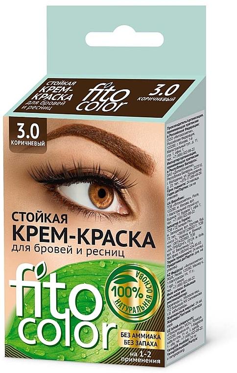 Tartós szemöldök és szempilla krémfesték - Fito Kozmetikum FitoColor