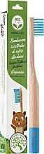 Parfüm, Parfüméria, kozmetikum Gyermek bambusz fogkefe, lágy sörtével, világoskék - Biomika Natural Bamboo Toothbrush