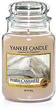 """Parfüm, Parfüméria, kozmetikum Illatosított gyertya """"Meleg kasmír"""" - Yankee Candle Warm Cashmere"""