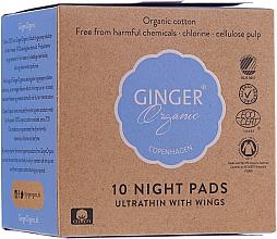 Parfüm, Parfüméria, kozmetikum Éjszakai egészségügyi betét, 10 db - Ginger Organic