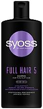 Parfüm, Parfüméria, kozmetikum Sampon tigrisfű kivonattal lapos és vékony hajra - Syoss Full Hair 5 Shampoo