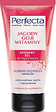 "Parfüm, Parfüméria, kozmetikum Arclemosó zselé ""Goji bogyók és vitaminok"" - Perfecta"