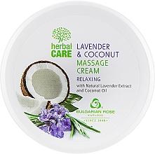 Parfüm, Parfüméria, kozmetikum Masszázskrém nyugtató hatással - Bulgarian Rose Herbal Care Lavender & Cococnut Massage Cream