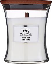 Parfüm, Parfüméria, kozmetikum Illatgyertya pohárban - WoodWick Hourglass Candle White Teak
