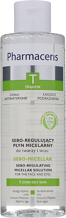 Micellás tisztító folyadék - Pharmaceris T Sebo-Micellar Solution Cleansing Make-Up Removal — fotó N1