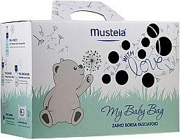 Parfüm, Parfüméria, kozmetikum Szett - Mustela My Baby Bag Set (water/300ml + gel/shm/200ml + f/cr/40ml + b/cr/50ml + wipes/25pcs + bag)