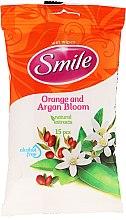 "Parfüm, Parfüméria, kozmetikum Nedves törlőkendő ""Narancsvirág és Argán"", 15db - Smile Ukraine"